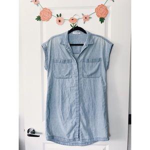 Everlane Short Sleeve Lightweight Denim Dress S